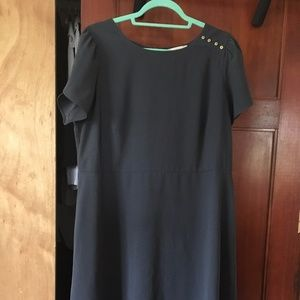 LOFT PLUS SHOULDER BUTTON FLARE DRESS size 16